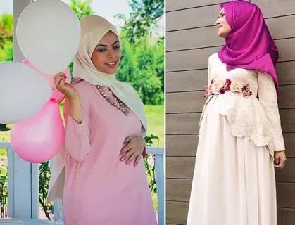 بالصور ملابس الحوامل , احدص التصميمات الجميلة للبس الحامل المحجبة 293 2