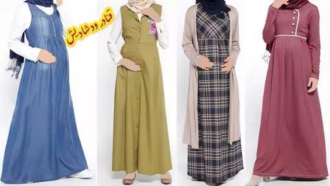 بالصور ملابس الحوامل , احدص التصميمات الجميلة للبس الحامل المحجبة 293