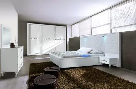 بالصور غرف نوم بيضاء , احدث الصور والتصميمات لغرفة النوم بدهان ابيض 336 8