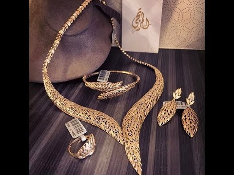 صوره طقم ذهب , احدث التصميمات لاطقم الذهب لشبكة العروس