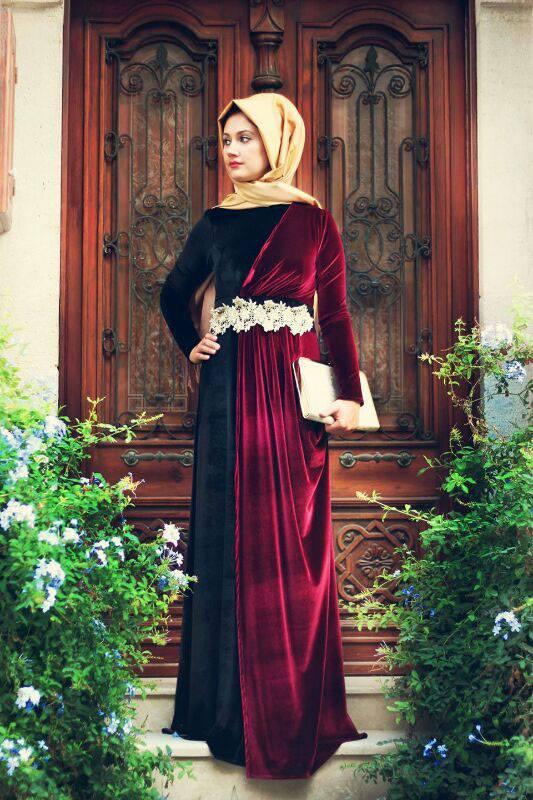 بالصور فساتين سهرة طويلة , احلى فستان طويل عصيرى ومتميز يناسب المحجبات 358 4