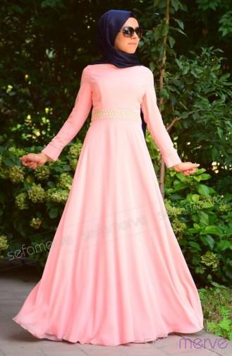 بالصور فساتين سهرة طويلة , احلى فستان طويل عصيرى ومتميز يناسب المحجبات 358 5