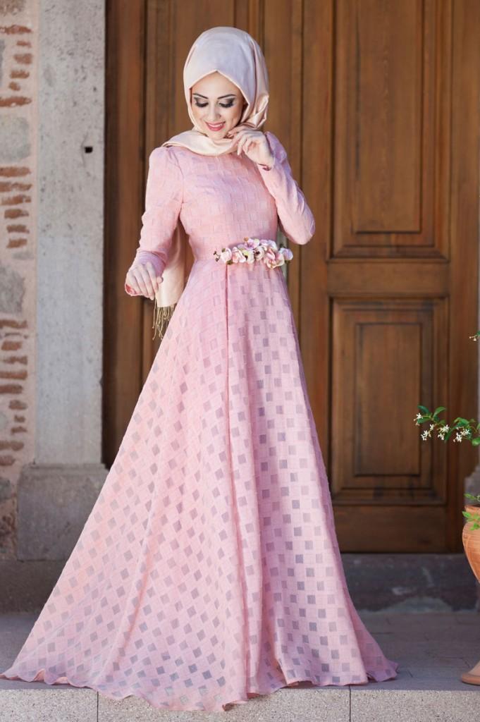 بالصور فساتين سهرة طويلة , احلى فستان طويل عصيرى ومتميز يناسب المحجبات 358 6