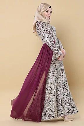 بالصور فساتين سهرة طويلة , احلى فستان طويل عصيرى ومتميز يناسب المحجبات 358 8