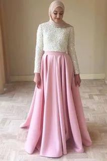 صورة فساتين سهرة طويلة , احلى فستان طويل عصيرى ومتميز يناسب المحجبات