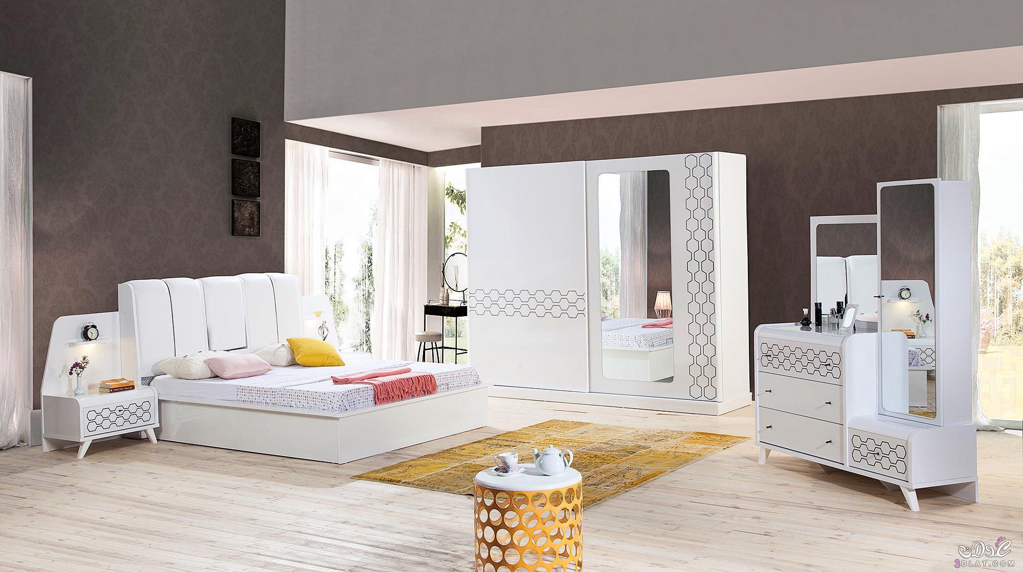 غرف نوم مودرن 2019 كامله تصميمات لغرف شباب وعرائس حديثة