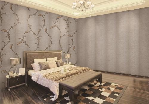 ورق جدران غرف نوم , تصميمات رائعة لورق الحائط   كلام حب