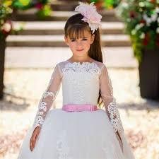 بالصور فساتين سواريه اطفال , فستان سهره شياكه للاطفال 547 2