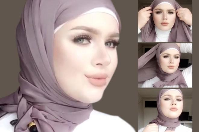 بالصور حجابات بنات , موديلات للفة حجاب بنات 906 11
