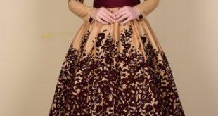 فساتين سهرة محتشمة , نماذج لفستان سهرة مقفول للمحجبات