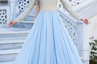 صورة ملابس سهرة , اجمل لباس سوارية للمحجبات