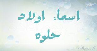 بالصور اسماء اولاد حلوه , اجمل الاسماء الجديدة للاولاد 554 2 310x165