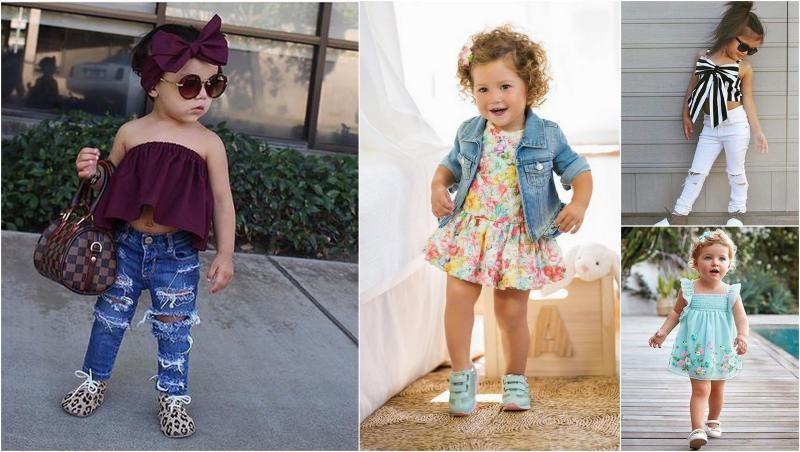 صورة ملابس بنات اطفال , موضة لملابس البنات الصغيرات