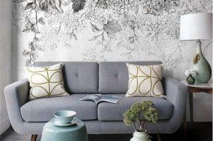 صورة ورق جدران رمادي , ورق حائط يناسب الاثاث الرمادي