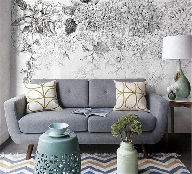 صور ورق جدران رمادي , ورق حائط يناسب الاثاث الرمادي
