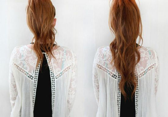 صورة تسريحة تطول الشعر , طرق تطويل الشعر