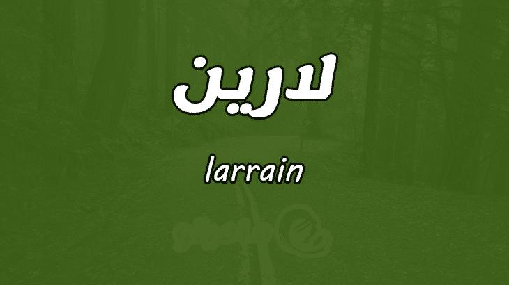 بالصور معنى اسم لارين في المعجم العربي , تفسير معنى اسم بناتى لارين في القاموس العربي 8490 1