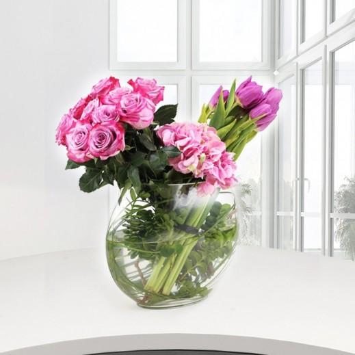 بالصور فازات ورد طبيعي , اشكال مختلفة من فازات الورد الكلاسيك والمودرن 8627 4
