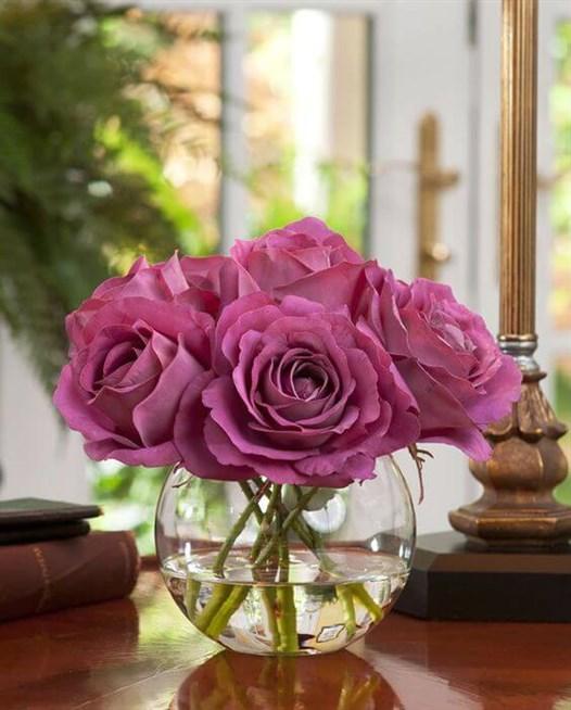 بالصور فازات ورد طبيعي , اشكال مختلفة من فازات الورد الكلاسيك والمودرن 8627 8
