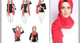 صورة طريقة لف الحجاب التركي للوجه الطويل , بالخطوات طريقة لف الطرح التركى