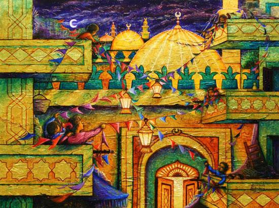 بالصور رسومات عن رمضان , روعة الرسومات الرمضانية 10956 6