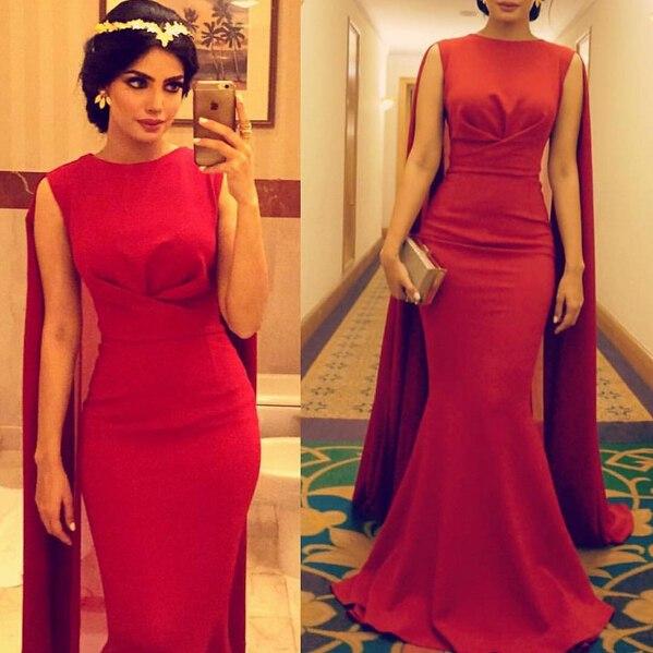 بالصور فساتين سهرة حمراء , شاهد شياكة الفستان الاحمر 10986 3