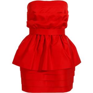 بالصور فساتين سهرة حمراء , شاهد شياكة الفستان الاحمر 10986 4
