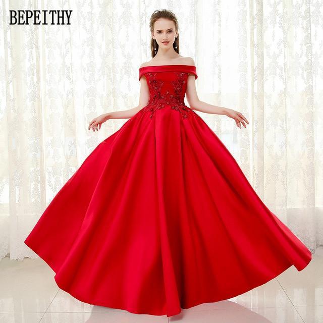بالصور فساتين سهرة حمراء , شاهد شياكة الفستان الاحمر 10986 5