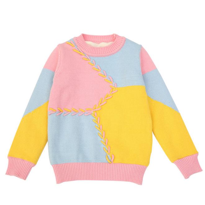 بالصور موديلات كنزات صوف للاطفال , احدث اشكال من كنزات وبلوزات الاطفال الملونة 8564