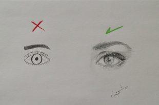 صور رسم العين للمبتدئين , اروع رسومات للعين