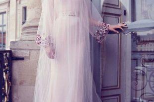 صورة موديلات فساتين كم طويل , احلى واجمل الفساتين الكم الطويل