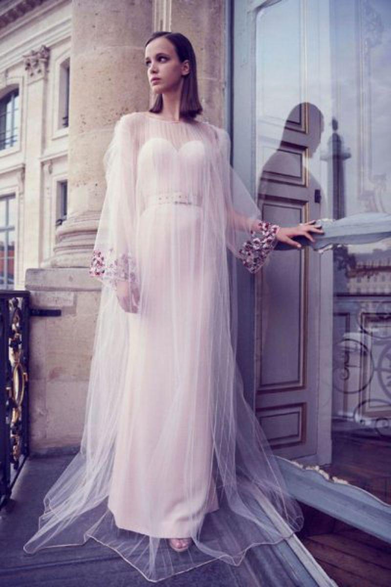 صور موديلات فساتين كم طويل , احلى واجمل الفساتين الكم الطويل