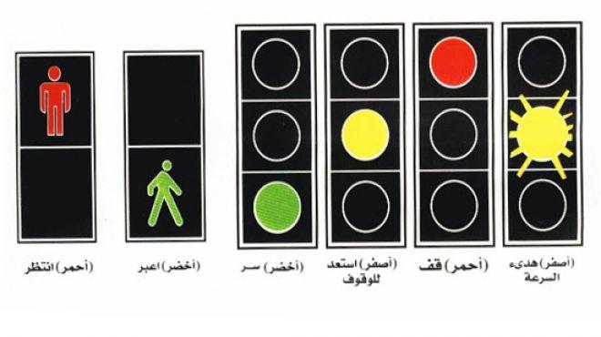 صور الاشارات الضوئية ومعانيها , معانى الوان الاشارات الضوئية