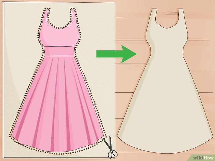 صور طريقة تفصيل فساتين , كيفية صنع فستان سهل ورقيق
