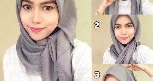 صورة طرق لف الحجاب بالفيديو'طريقة لف الحجابات بالفيديوهات