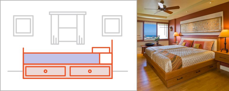 صورة مقاسات اثاث غرف النوم , اشكال غرف النوم حسب المقاس