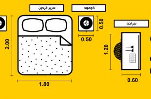 صور مقاسات اثاث غرف النوم , اشكال غرف النوم حسب المقاس