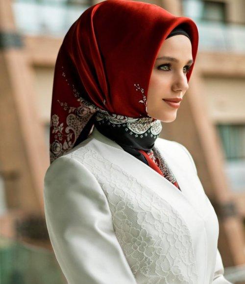 صورة بالصور طريقة لف الحجاب التركي , جمال الحجاب بالطريقه التركية
