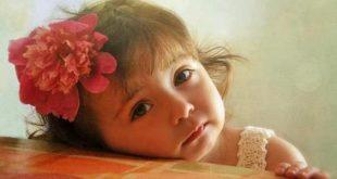 صورة اجمل بنات اطفال , البنات تعبر عن الحنية والحنان