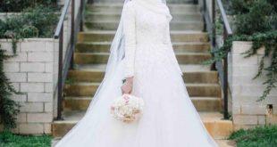 فساتين زفاف للمحجبات , جمال ورقة الفساتين