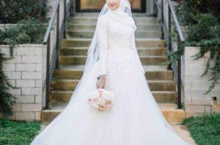 صورة فساتين زفاف للمحجبات , جمال ورقة الفساتين