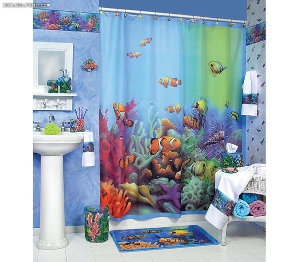 صورة ستائر حمامات, أروع تصاميم لستائر الحمامات 3321 1