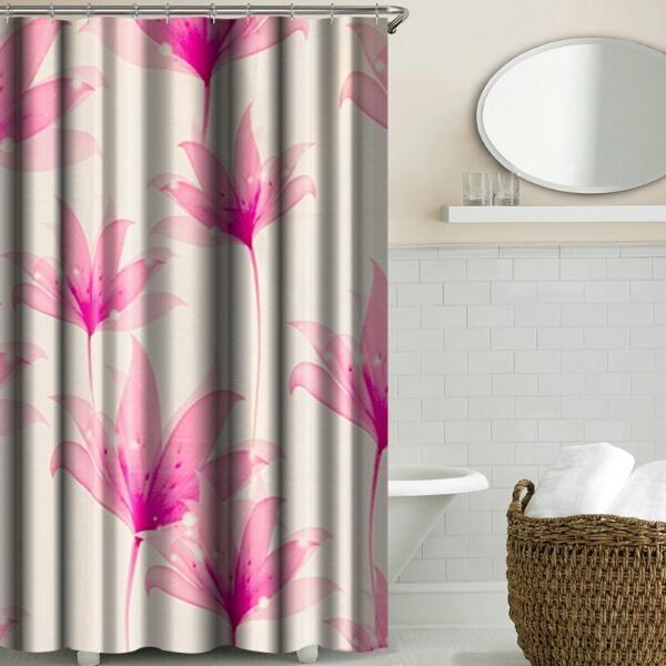 صورة ستائر حمامات, أروع تصاميم لستائر الحمامات