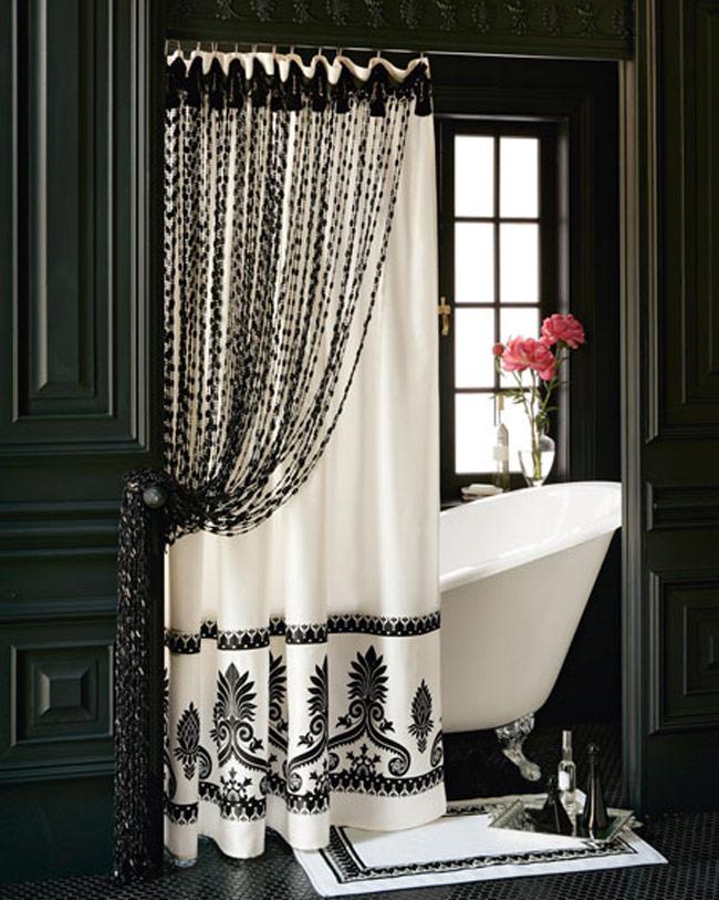صورة ستائر حمامات, أروع تصاميم لستائر الحمامات 3321