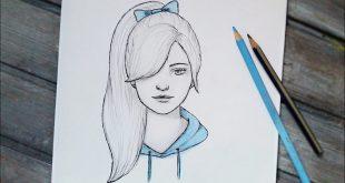 صورة تعلمي الرسم من خلال رسم البنات ،بنات كيوت رسم