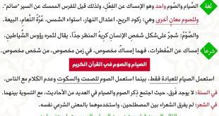 صورة الفرق بين الصوم والصيام، كيف افرق بين كلمتى الصوم والصيام